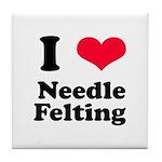 I Love Needle Felting Tile Coaster