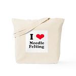 I Love Needle Felting Tote Bag