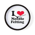 I Love Needle Felting Wall Clock