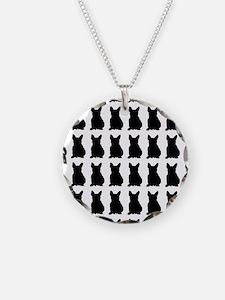 French Bulldog Silhouette Fl Necklace