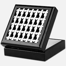 French Bulldog Silhouette Flip Flops  Keepsake Box