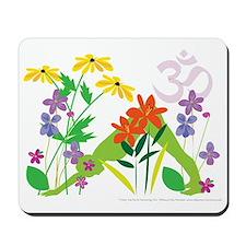 Humming Flowers Mousepad