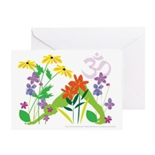 Humming Flowers Greeting Card