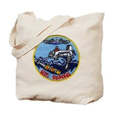 uss remora patch transparent Tote Bag