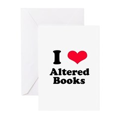 I Love Altered Books Greeting Cards (Pk of 10)