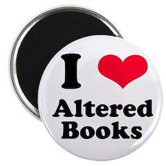 I Love Altered Books Magnet