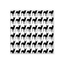 "Bullterrier Silhouette Flip Square Sticker 3"" x 3"""