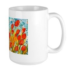 Orange Tulips Decorative Mug