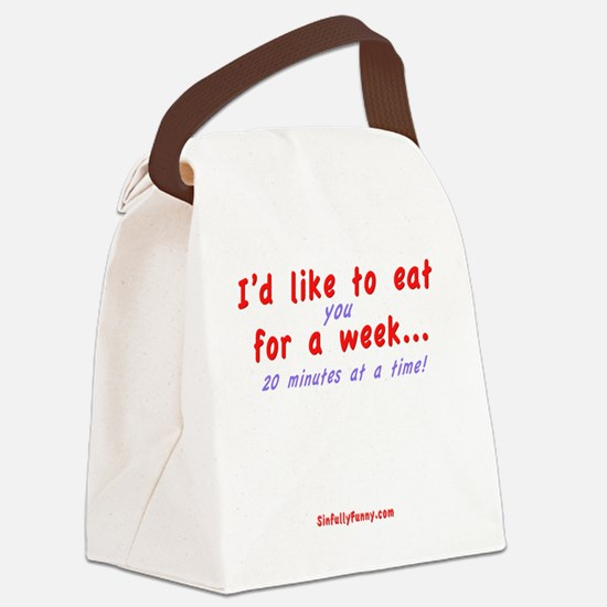 Eat You Canvas Lunch Bag