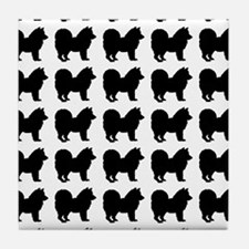 Chow Chow Silhouette Flip Flops In Bl Tile Coaster