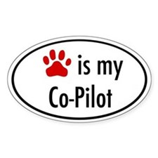 Dog is my Co-Pilot Oval Decal