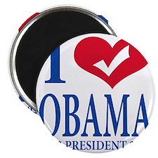 i love obama Magnet