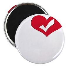 i love obama(blk) Magnet