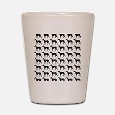 Greyhound Silhouette Flip Flops In Blac Shot Glass