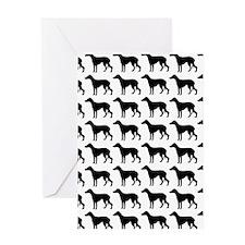 Greyhound Silhouette Flip Flops In B Greeting Card