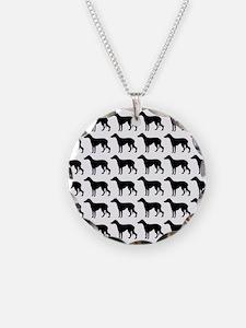 Greyhound Silhouette Flip Fl Necklace