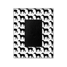 Greyhound Silhouette Flip Flops In B Picture Frame