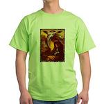 Mona Lisa Deer #1A Green T-Shirt
