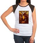 Mona Lisa Deer #1A Women's Cap Sleeve T-Shirt