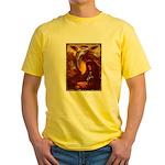 Mona Lisa Deer #1A Yellow T-Shirt