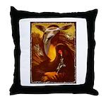 Mona Lisa Deer #1A Throw Pillow