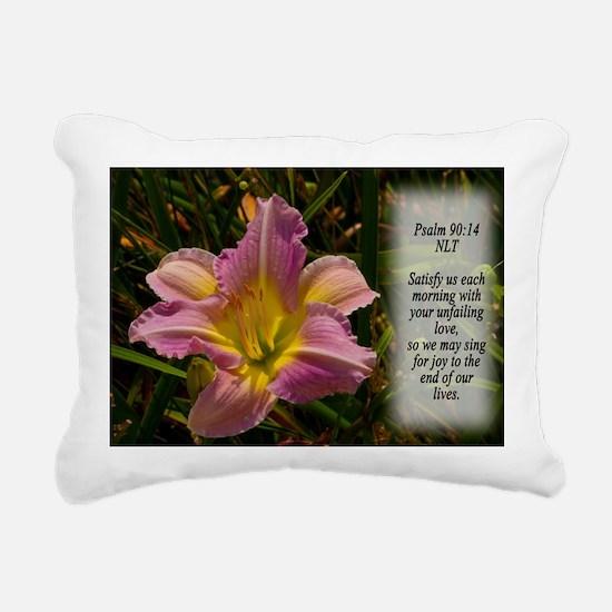 Psalm 90:14 Rectangular Canvas Pillow