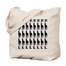 Great Dane Silhouette Flip Flops In Black Tote Bag