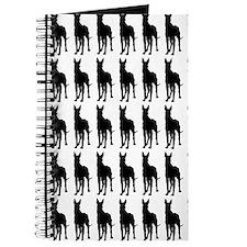 Great Dane Silhouette Flip Flops In Black Journal