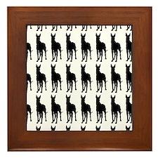 Great Dane Silhouette Flip Flops In Bl Framed Tile