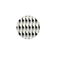 Great Dane Silhouette Flip Flops In Bl Mini Button