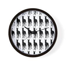 Great Dane Silhouette Flip Flops In Bla Wall Clock