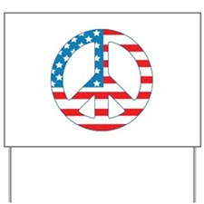 4th July Peace Yard Sign
