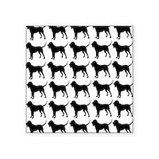"""Bloodhound Silhouette Flip  Square Sticker 3"""" x 3"""""""