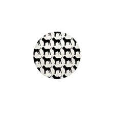 Bloodhound Silhouette Flip Flops In Bl Mini Button