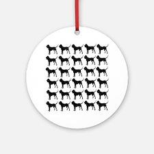 Bloodhound Silhouette Flip Flops In Round Ornament