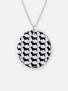 Basset Hound Silhouette Flip Necklace