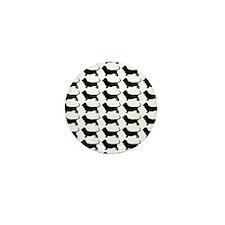 Basset Hound Silhouette Flip Flops In  Mini Button