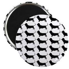 Basset Hound Silhouette Flip Flops In Black Magnet