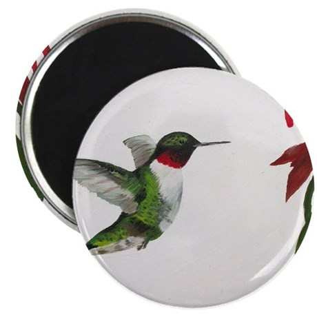 Hummingbird and Bee Balm Magnet