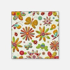 "Floral Square Sticker 3"" x 3"""