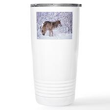 GREY WOLF IN SNOW IN NORTH AMER Travel Mug