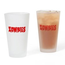 Zombies Drinking Glass