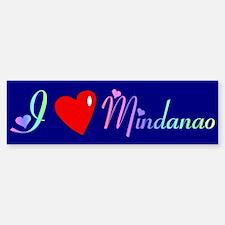 I Love Mindanao Gifts Bumper Bumper Bumper Sticker