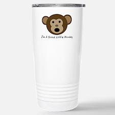 Im A Good Little Monkey Stainless Steel Travel Mug