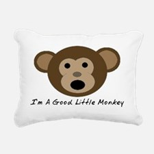 Im A Good Little Monkey Rectangular Canvas Pillow
