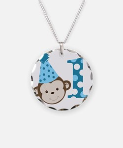 1st Birthday Cute Boy Monkey Necklace