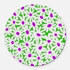 Floral Round Car Magnet