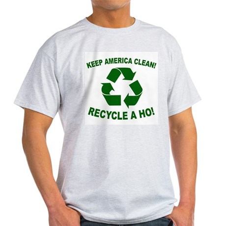 Keep America Clean Recycle a Ash Grey T-Shirt