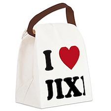 I Love Jixi Canvas Lunch Bag