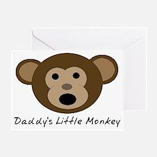 Daddys Little Monkey Greeting Card